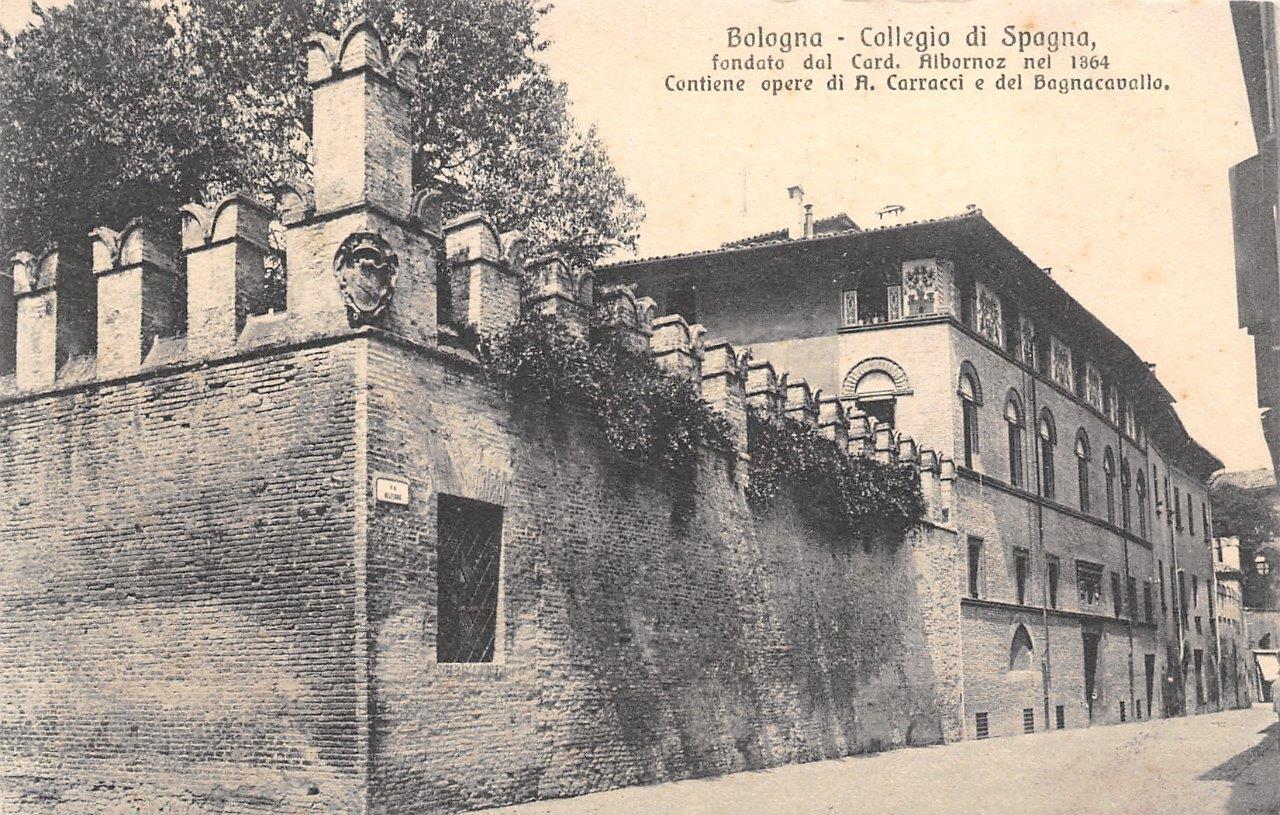 I feriti nazionalisti del Collegio di Spagna a Bologna